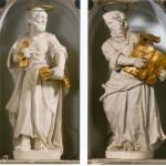 Veli Iž, Župna crkva, kipovi sv. Petra i Pavla