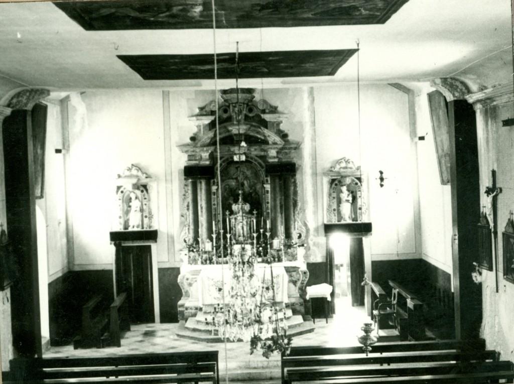 Veli Iž, Župna crkva, sredinom 20. st.