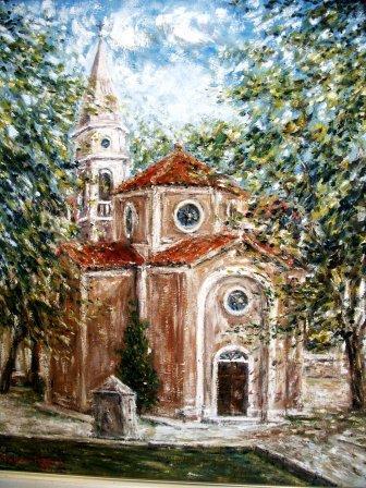 Stara (srušena) župna crkva Rođenja Marijina u Benkovcu