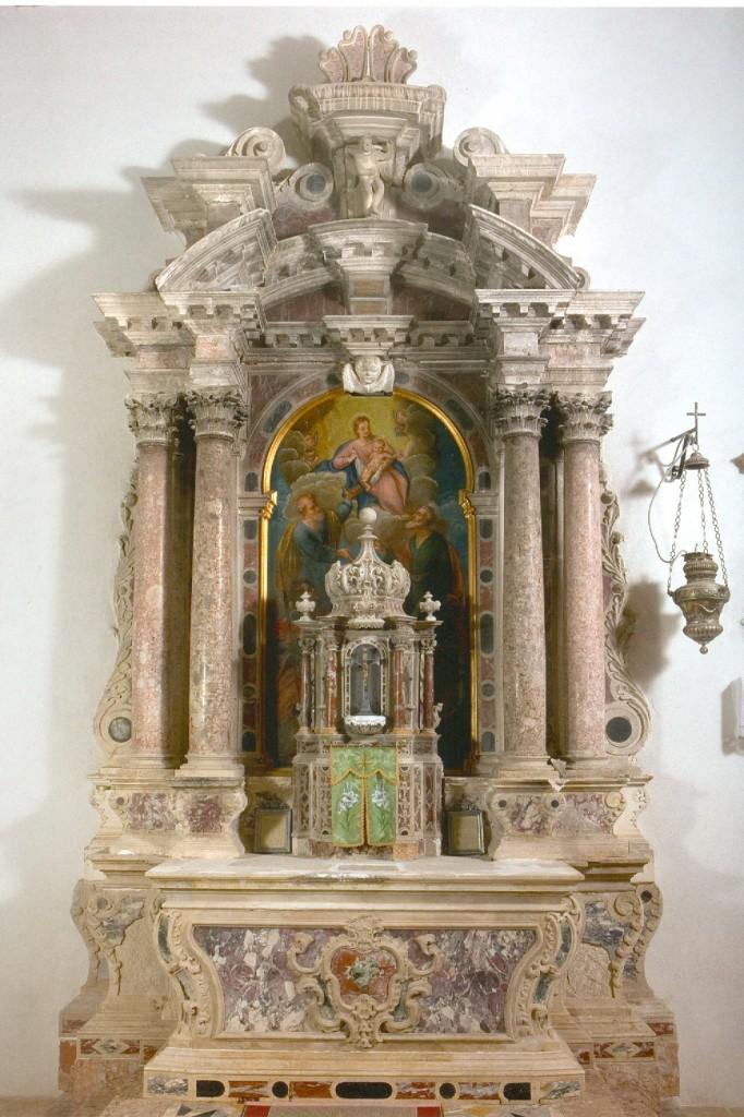 Veli Iž, Župna crkva, veliki oltar, 18. st.