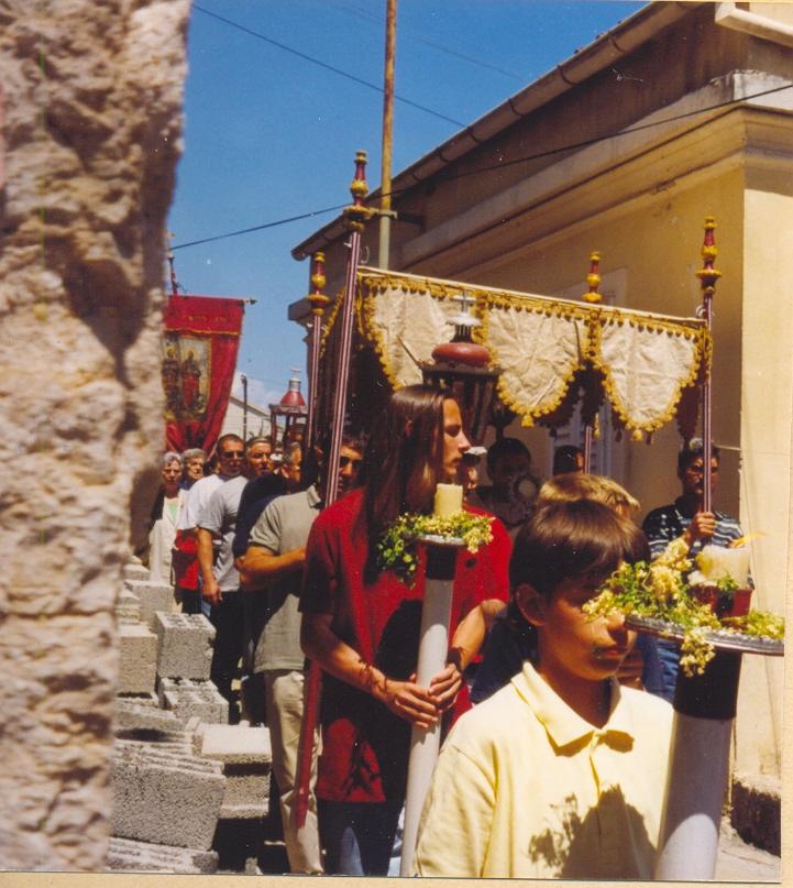 Veli Iž, Tijelovska procesija 1995.